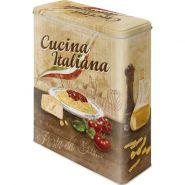 Cutie metalica XL Cucina Italiana