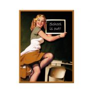 Magnet Pin Up - School is out