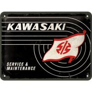 Placa 15x20 Kawasaki - Tank Logo