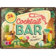 Placa 30x40 Cocktail Bar