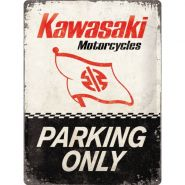 Placa 30x40 Kawasaki - Parking Only