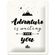 Placa metalica 15X20 Adventure is waiting