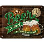Placa metalica 15X20 Beer O'Clock Glasses