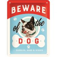 Placa metalica 15X20 BEWARE OF THE DOG
