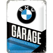 Placa metalica 15X20 BMW-Garage