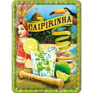 Placa metalica 15X20 Cocktail-Time - Caipirinha