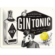 Placa metalica 15X20 Gin tonic