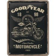 Placa metalica 15x20 Goodyear Motorcycle