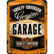 Placa metalica 15X20 Harley - Davidson Garage
