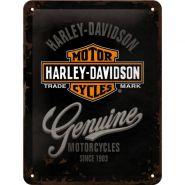 Placa metalica 15x20 Harley-Davidson Genuine Logo