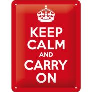 Placa metalica 15x20 Keep Calm