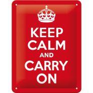 Placa metalica 15x20 Keep Calm