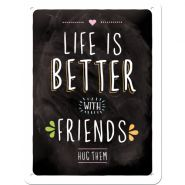 Placa metalica 15X20 Life is better with friends