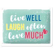 Placa metalica 15X20 Live Laugh Love