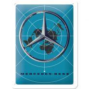 Placa metalica 15x20 Mercedes-Benz World map
