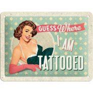 Placa metalica 15X20 Tattoo
