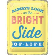 Placa metalica 15x20 The bright side