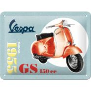Placa metalica 15x20 Vespa GS 150