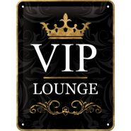 Placa metalica 15X20 VIP Lounge