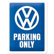 Placa metalica 15X20 VW - Parking only