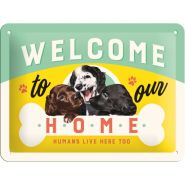 Placa metalica 15X20 Welcome to our Home