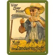 Placa metalica 15X20 Wer Bier Trinkt