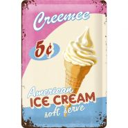 Placa metalica 20X30 American Ice Cream
