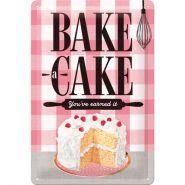 Placa metalica 20X30 Bake A Cake
