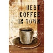 Placa metalica 20X30 Best Coffee in Town