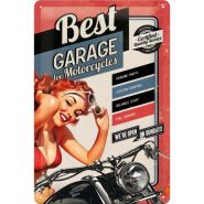 Placa metalica 20X30 Best Garage
