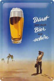 Placa metalica 20X30 Bier Durst