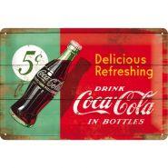 Placa metalica 20X30 Coca-Cola - Delicious Refreshing Green