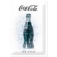 Placa metalica 20X30 Coca-Cola - Ice Cold