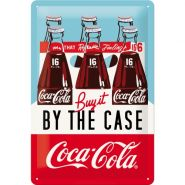 Placa metalica 20x30 Coca-Cola By the case