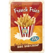 Placa metalica 20X30 French Fries