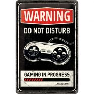 Placa metalica 20x30 Gaming in progress