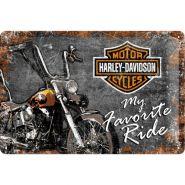 Placa metalica 20X30 Harley-Davidson - My Favorite Ride