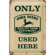 Placa metalica 20X30 John Deere Exclusive