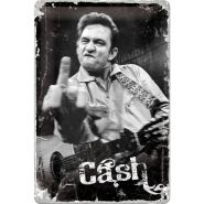 Placa metalica 20X30 Johnny Cash