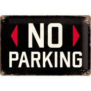 Placa metalica 20X30 No Parking