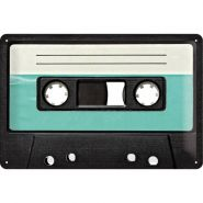 Placa metalica 20x30 Retro - Cassette Tape