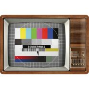 Placa metalica 20x30 Retro TV