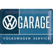 Placa metalica 20X30 VW Garage