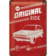 Placa metalica 20X30 VW Golf - The Original