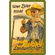 Placa metalica 20X30 Wer Bier trinkf