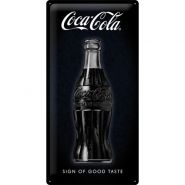 Placa metalica 25x50 Coca-Cola - Sign Of Good Taste