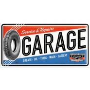 Placa metalica 25X50 Garage