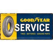 Placa metalica 25x50 Goodyear Service
