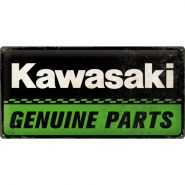 Placa metalica 25x50 Kawasaki Genuine Parts