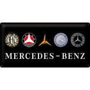 Placa metalica 25x50 Mercedes-Benz logo evolution